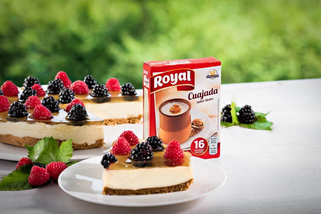 tarta para cuajada royal
