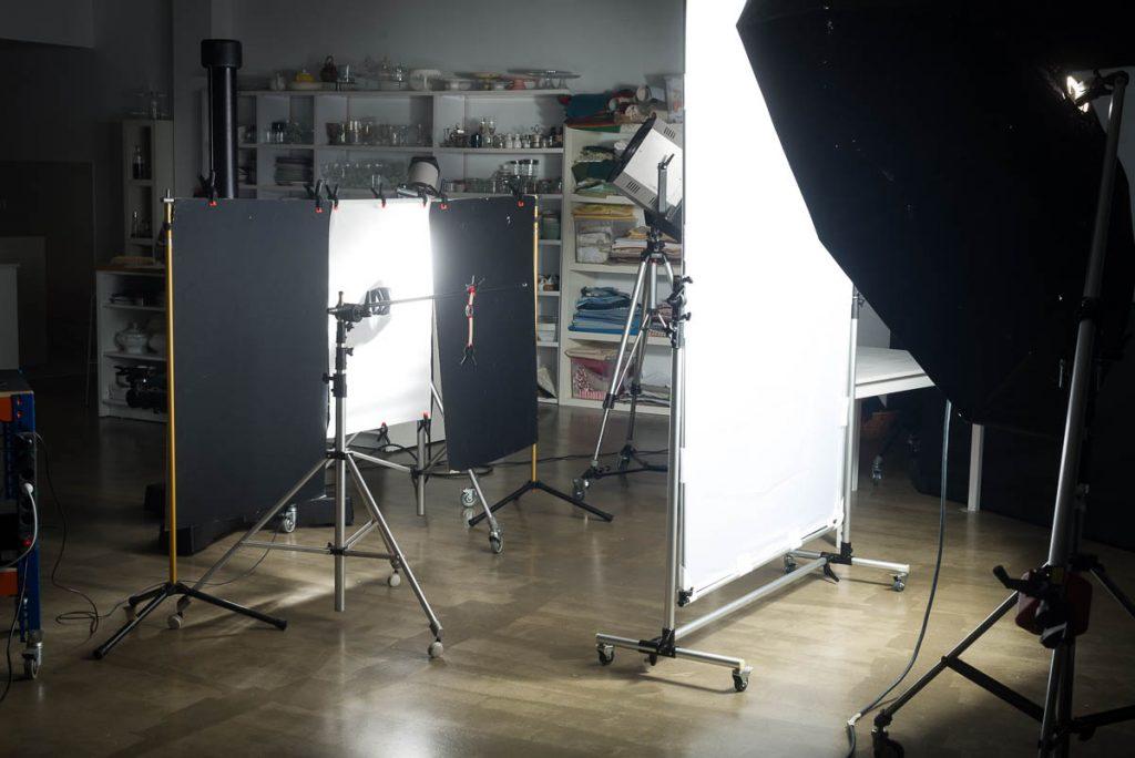 fotografía making of en el estudio de Alejandro Braña en Gijón