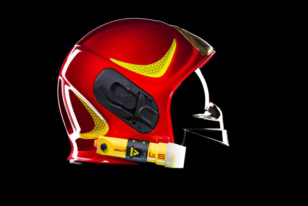 modelo de casco para linterna bombero