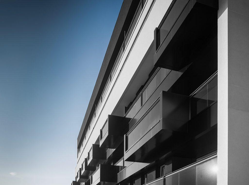 Detalle arquitectónico de un reportaje de fotografías para empresa de construcción
