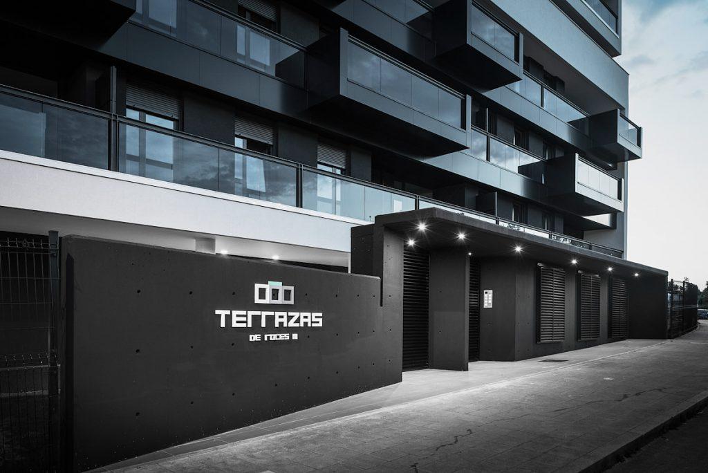 Detalle de edificio en un reportaje de arquitectura