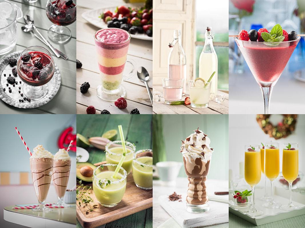 Ejemplos de fotografías de bebidas y combinados