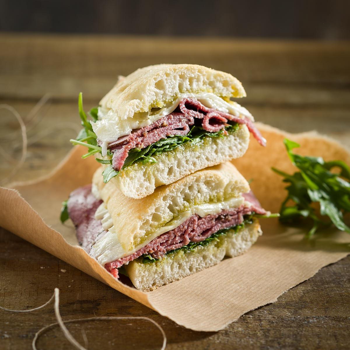 Fotografía Sandwiches Carta de Bares y Restaurantes