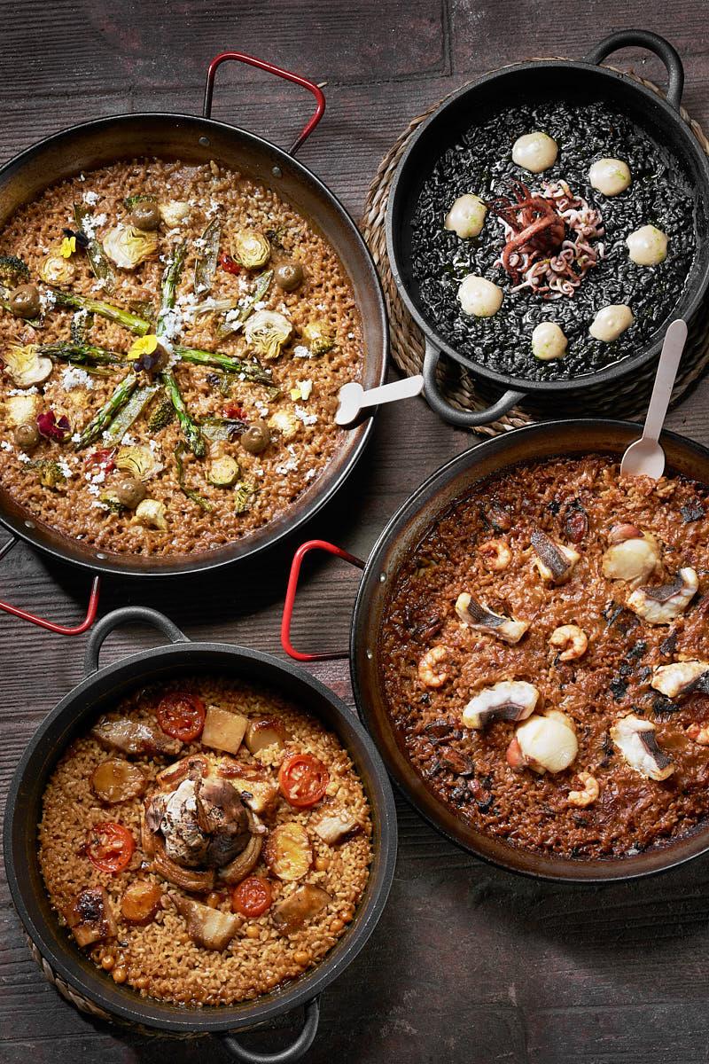 Fotógrafo restaurantes en Asturias bodegón paellas