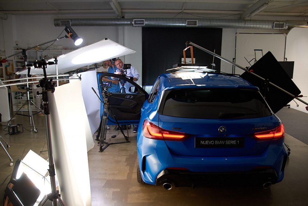 Making of grabación video coche en plato de alquiler en Asturias