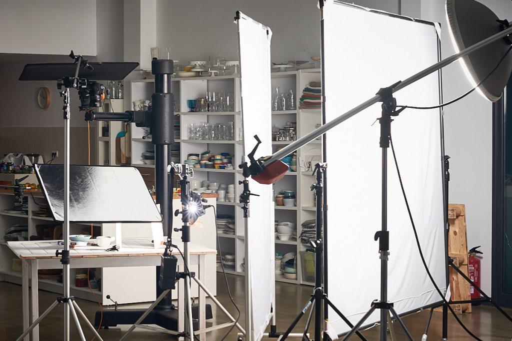 Fotografía de making of durante una sesión de fotografía editorial para la marca La Gula del Norte